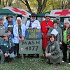 Monster MASH : Every October my brother and his family, together with a group of friends, go to a campground near Gettysburg, Pa. and participate in a Holloween dress-up and decoration competition. This year they chose the TV show MASH as their theme. The photos in this gallery show shots from the group's campsite,  as well as shots of some of the decorations and scenes found elsewhere in the campground.